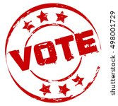 red vote stamp | Shutterstock .eps vector #498001729