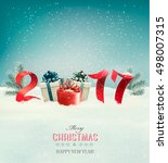 new year background with a 2017 ... | Shutterstock .eps vector #498007315