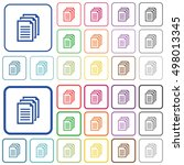 set of documents flat rounded... | Shutterstock .eps vector #498013345