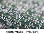 motherboard's green electronic... | Shutterstock . vector #4980184