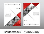 brochure layout template flyer... | Shutterstock .eps vector #498020509