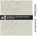 database and network icon set... | Shutterstock .eps vector #498022441