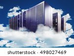 abstract computer  in a cloudy... | Shutterstock . vector #498027469