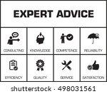 expert advice. chart with... | Shutterstock .eps vector #498031561