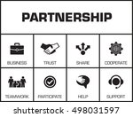 partnership. chart with... | Shutterstock .eps vector #498031597