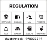 regulations. chart with...   Shutterstock .eps vector #498033349