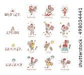 calendar template. times of... | Shutterstock .eps vector #498034441