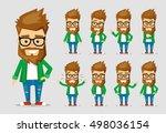 character men hipster. a...   Shutterstock .eps vector #498036154