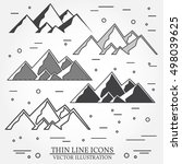 set of mountains icons. set... | Shutterstock .eps vector #498039625