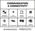communication and connectivity... | Shutterstock .eps vector #498041551
