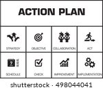 action plan. chart with... | Shutterstock .eps vector #498044041