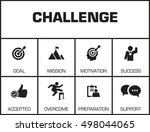 challenge. chart with keywords... | Shutterstock .eps vector #498044065