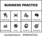 best practice. chart with...   Shutterstock .eps vector #498044761