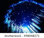 blur and motion of fibre optic... | Shutterstock . vector #498048271