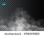 fog or smoke isolated... | Shutterstock .eps vector #498049885
