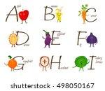 fruits and vegetables alphabet. ...   Shutterstock .eps vector #498050167