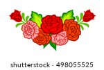 mexican flowers. floral... | Shutterstock . vector #498055525
