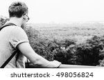 black and white photo of the...   Shutterstock . vector #498056824