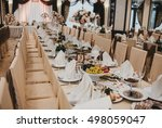 well designed wedding table in... | Shutterstock . vector #498059047