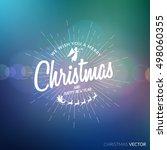 merry christmas lettering... | Shutterstock .eps vector #498060355
