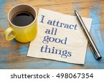 i attract all good things  ... | Shutterstock . vector #498067354