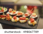 beautifully decorated catering... | Shutterstock . vector #498067789