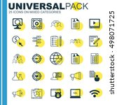 set of 25 universal icons on... | Shutterstock .eps vector #498071725