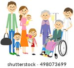 the family who has come to... | Shutterstock .eps vector #498073699