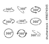 360 degrees view vector icon. | Shutterstock .eps vector #498074545