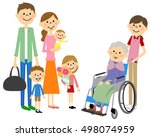 the family who has come to... | Shutterstock .eps vector #498074959