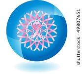 pink ribbon | Shutterstock .eps vector #49807651