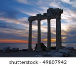 temple of apollo in the evening ... | Shutterstock . vector #49807942