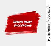 logo brush painted watercolor... | Shutterstock .eps vector #498081739