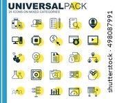 set of 25 universal icons on... | Shutterstock .eps vector #498087991