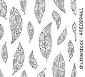 seamless pattern of bird... | Shutterstock . vector #498089461