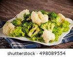 Cauliflower Broccoli On A White ...