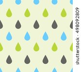 seamless pattern with rain... | Shutterstock .eps vector #498092809