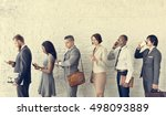 business people using device... | Shutterstock . vector #498093889