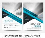 brochure template flyer design...   Shutterstock .eps vector #498097495