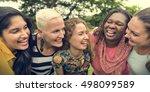 group of women socialize... | Shutterstock . vector #498099589