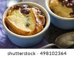 bread and butter pudding with...   Shutterstock . vector #498102364
