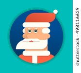 face of santa claus with... | Shutterstock .eps vector #498116629