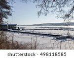 Empty Marina. Winter View Of...