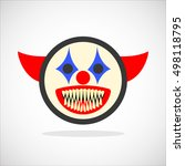 creepy clown. evil scary... | Shutterstock .eps vector #498118795