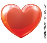 big red heart   isolated on...   Shutterstock .eps vector #498122269
