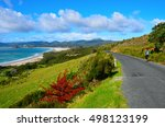 Small photo of Coastal Path in Great Barrier Island, New Zealand