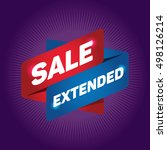sale extended arrow tag sign. | Shutterstock .eps vector #498126214