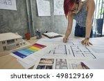 design studio architect... | Shutterstock . vector #498129169