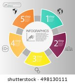 business circle info graphic... | Shutterstock .eps vector #498130111