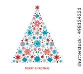 christmas tree with  pattern...   Shutterstock .eps vector #498134221